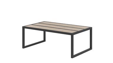 Table basse en acier Alette avec plateau en bois
