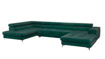 Grand canapé d'angle convertible Edward